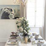 Morgan House Bed & Breakfast spread with chandelier