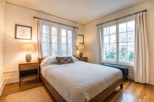bedroom with big windows